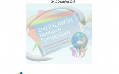 2nd PALAWAN Research Symposium National Research Forum on Palawan's Sustainable Development 2015
