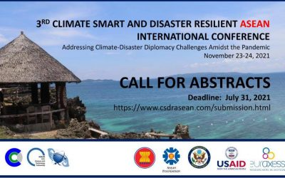 3RD CLIMATE SMART AND DISASTER-RESILIENT ASEAN INTERNATIONAL CONFERENCE November 23-24, 2021